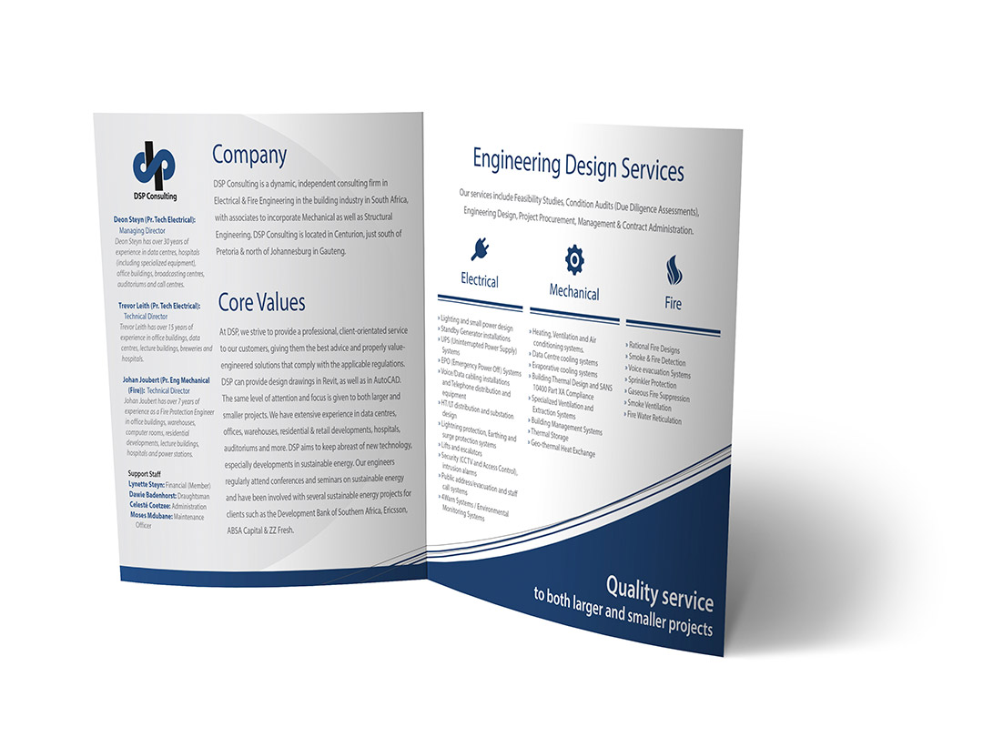 Dsp consulting company brochure lenomedia graphic design for Brochure for web design company