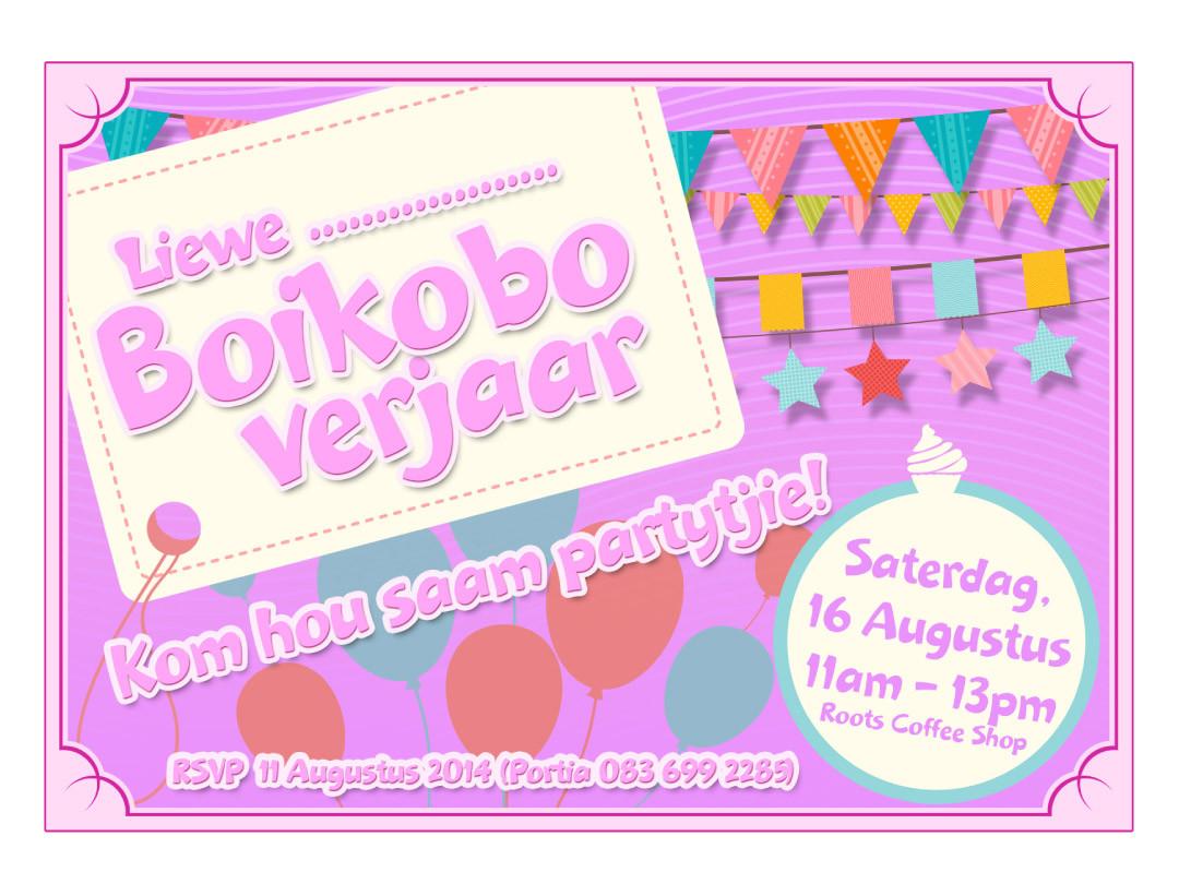 Boikobo Birthday Card