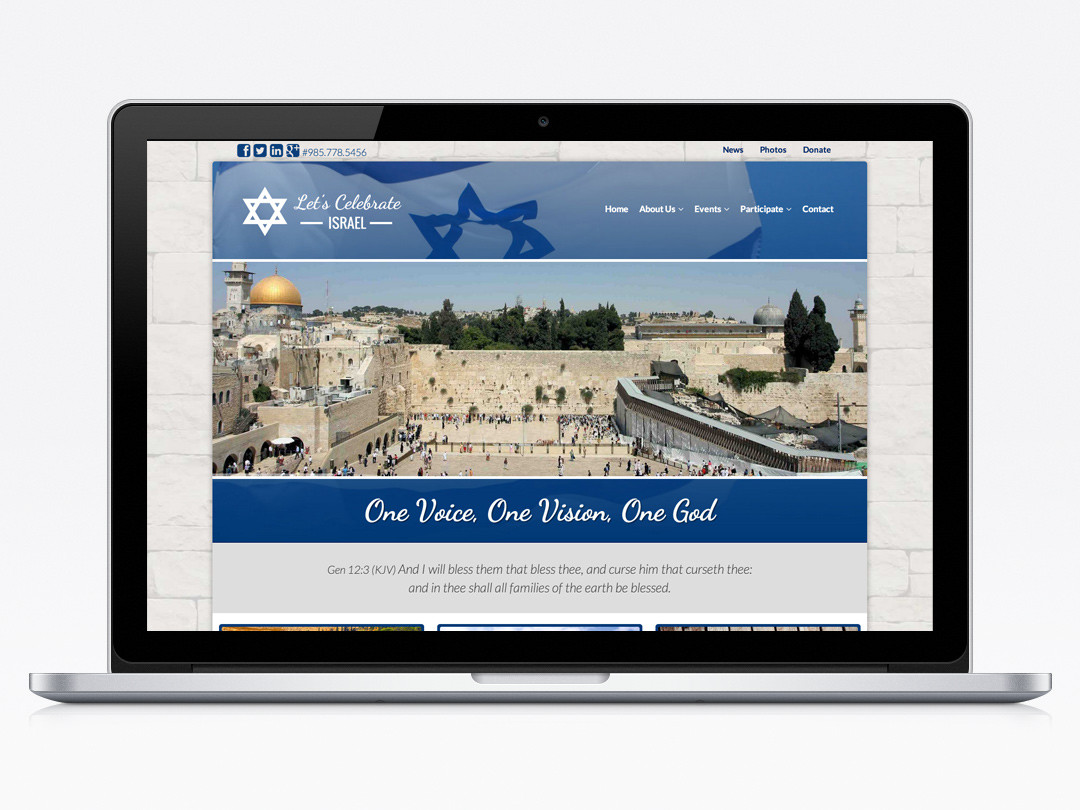 Let's Celebrate Israel Website