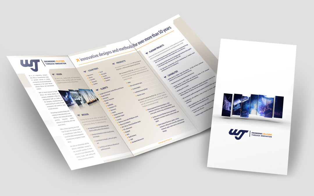 WJ Engineering Potchefstroom Brochure Design
