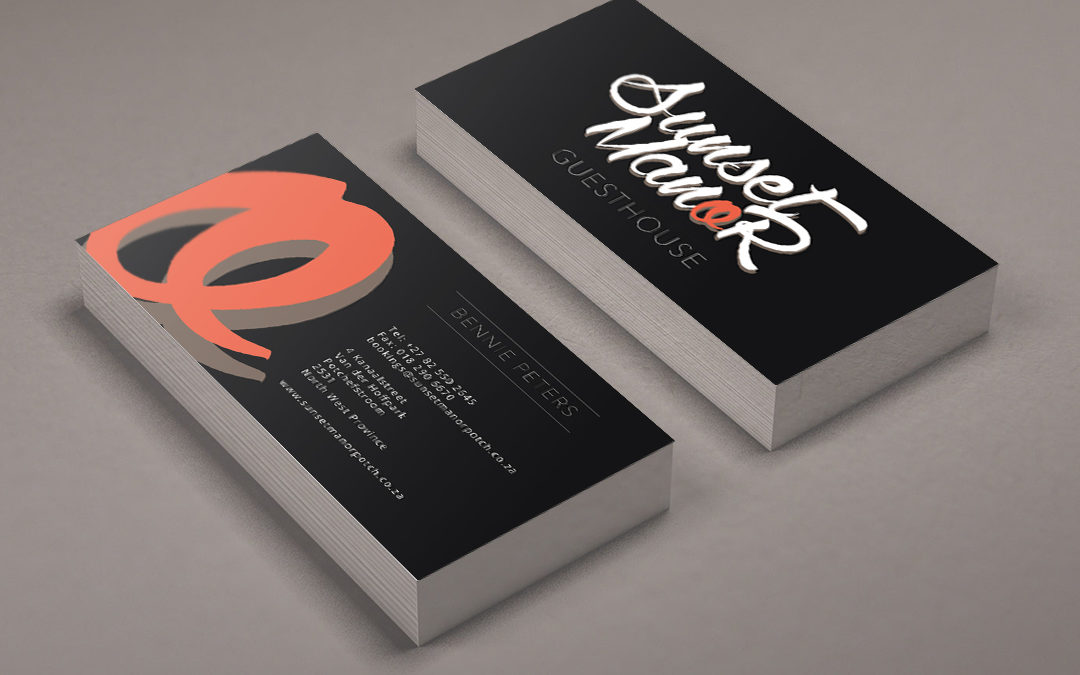 Sunset Manor Business Cards